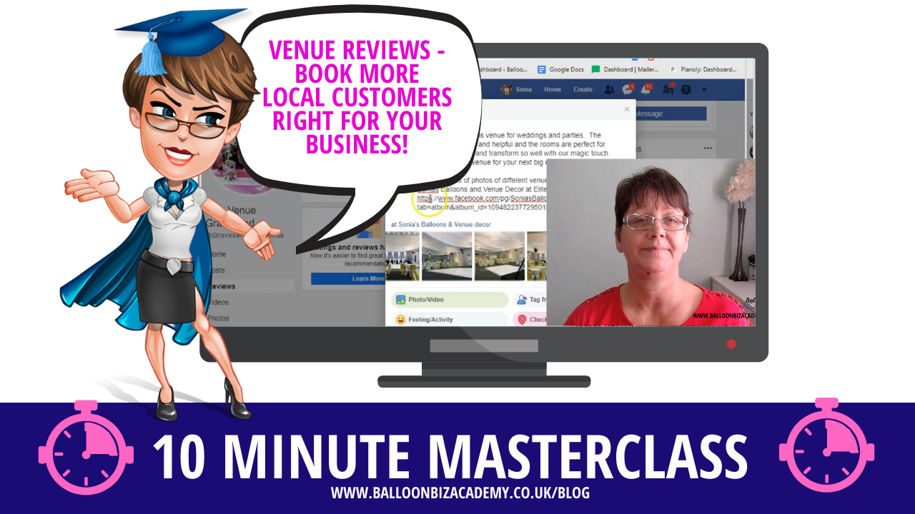 10 Minute Masterclass:  How to Book More Local Customers With Facebook Venue Reviews.
